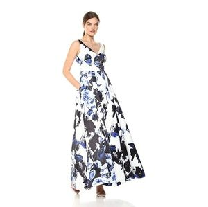 Aidan Mattox Woman`s Sleeveless Floral Ball Gown